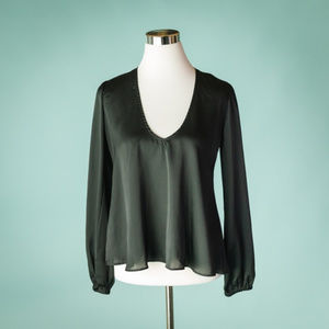 Lovers + Friends S Black Daydream V Neck Top
